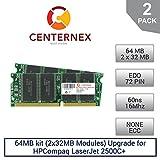 64MB kit (2x32MB Modules) RAM Memory for HPCompaq LaserJet 2500C+ (60NS) Printer Memory Upgrade by US Seller
