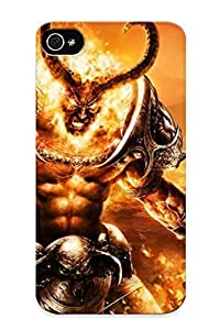 New Fashion Premium Tpu Case Cover For Iphone 4/4s - Sargeras - World Of Warcraft Case For New Year's Day's Gift