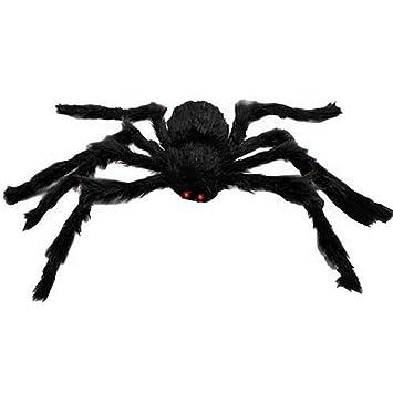 Amazon.com: GIANT POSEABLE HAIRY HALLOWEEN SPIDER - Over 3 Feet ...