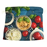 tomato basil string cheese - Tomatoes Feta Cheese Basil Vegetables Cute Colorful Candy Gift Present Wrap Drawstring Bag