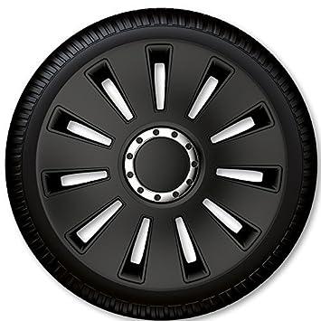 Tapacubos Tapacubos radabdeckungen Silverstone Pro Black 17pulgadas 1Juego de 4unidades)