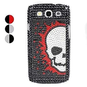 Buy Skull Design Rhinestones Hard Case for Samsung Galaxy S3 I9300 (Assorted Colors) , Gray