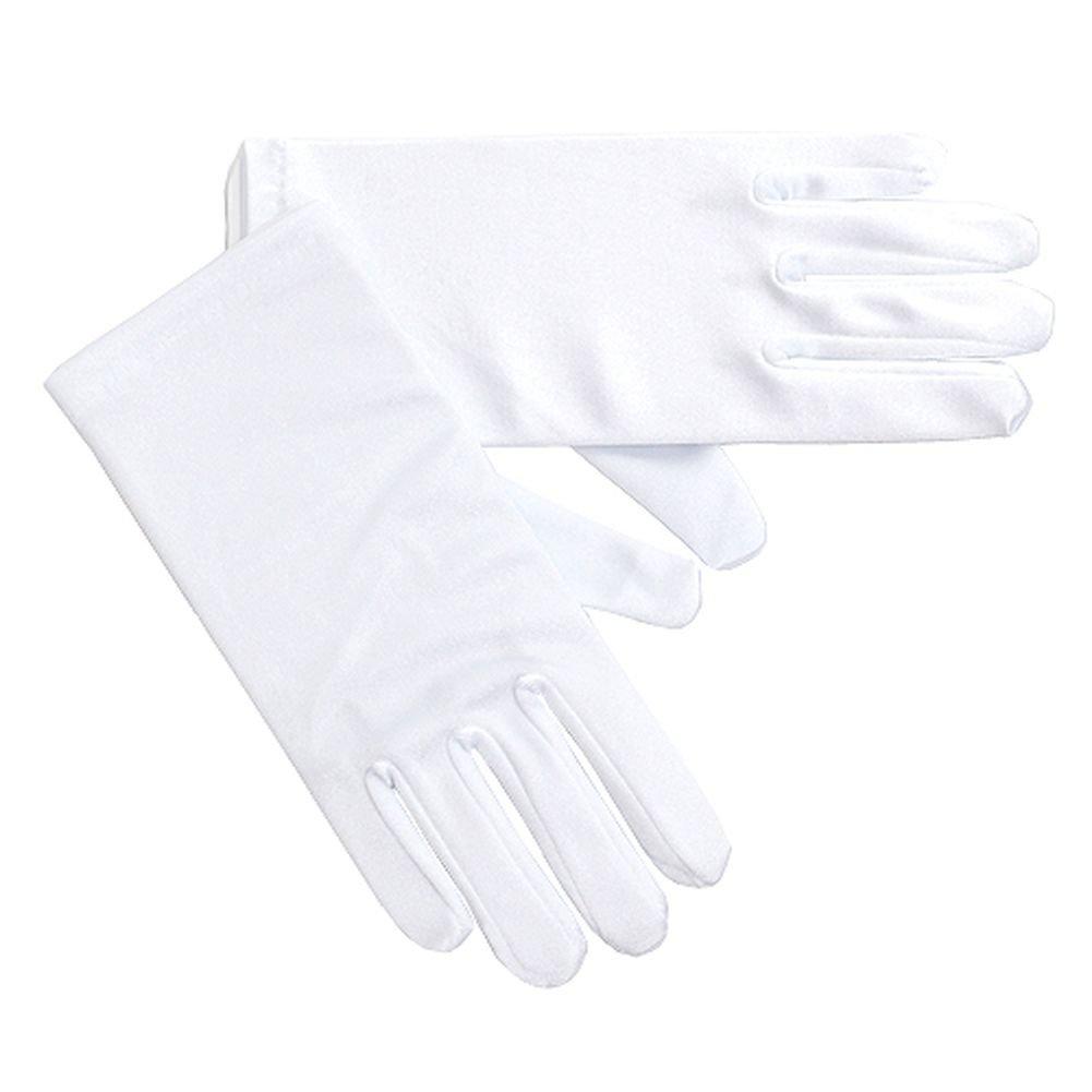 Angels Garment Girls Size 8-12 White Satin Wrist Length Wedding Gloves