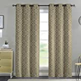 Aries Chain Room Darkener 8 Grommet Panel, 2-Pack, Reduces Outside Noise, Blocks Most Sunlight, Save on Heating And Cooling Costs, 52×90 Inches (Taupe) Review