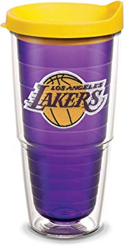Tervis 1059820 Nba Los Angeles Lakers Primary Logo Tumbler With Emblem And Yellow Lid 24oz Amethyst Gilferufindarl