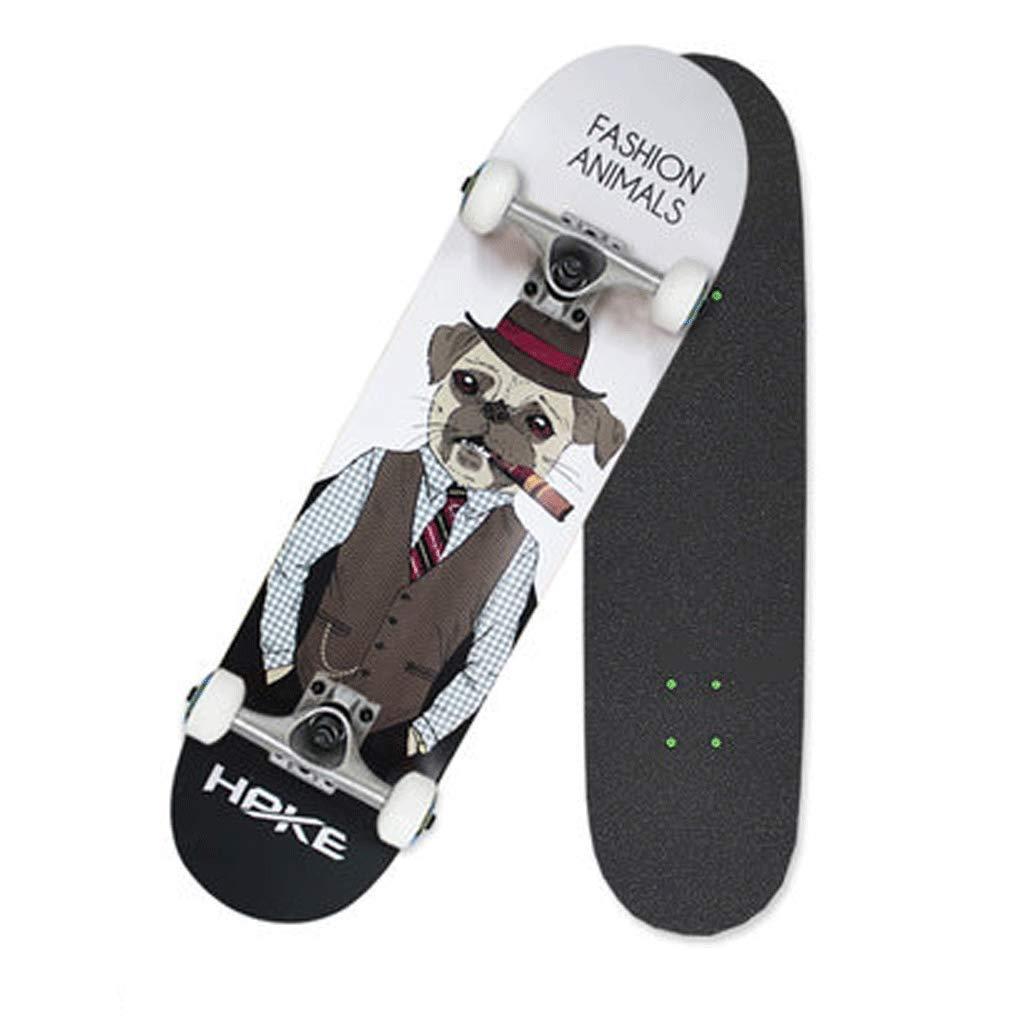 JIN Professionelle Skateboard Anfänger Erwachsene Kinder Jungen Jungen Jungen und Mädchen Straße Street Action Skateboard Bilaterale geneigte Platte (Farbe   D) B07NKQ3FY5 Skateboards Mode-Muster 000def