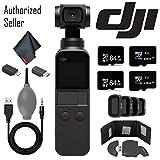DJI Osmo Pocket Gimbal w/Card Reader - 128GB Micro SD x2-64GB Micro SD x 2 and More