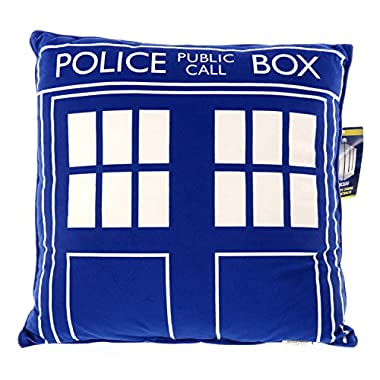 Doctor Who Throw Pillow - Square Dr. Who TARDIS Cushion - 16  x 16