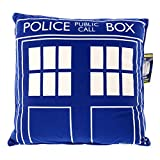 """Doctor Who Throw Pillow - Square Dr. Who TARDIS Cushion - 16"""" x 16"""""""