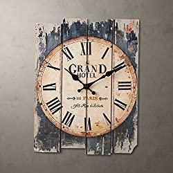 LightInTheBox 15H Country Style Brown Indoor Analog Wall Clock Home Decor Design Wall Clocks