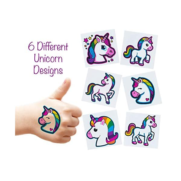Unicorn Tattoos - 72 Pack Set Of Assorted Unicorn Temporary Tattoos - Great For Birthday Party Favors, Classrooms, Favor… 4