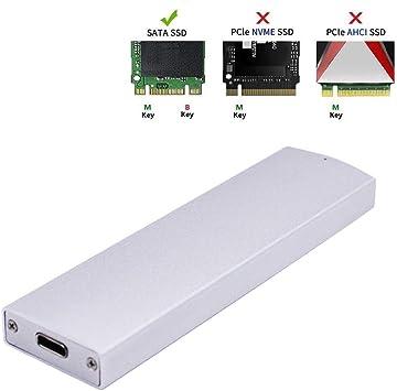 EZDIY-FAB M.2 Estuche USB 3.1 Gen2 para SATA M.2 SSD(Key B/B+M ...