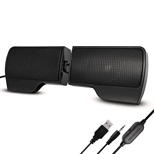 【Improved Version】 PC Speakers,Computer Speakers Portable Mini Speaker 3.5mm Stereo USB Cable Multimedia Speaker Music Player For Computer Desktop PC Laptop Notebook Plug and Play High Configuration