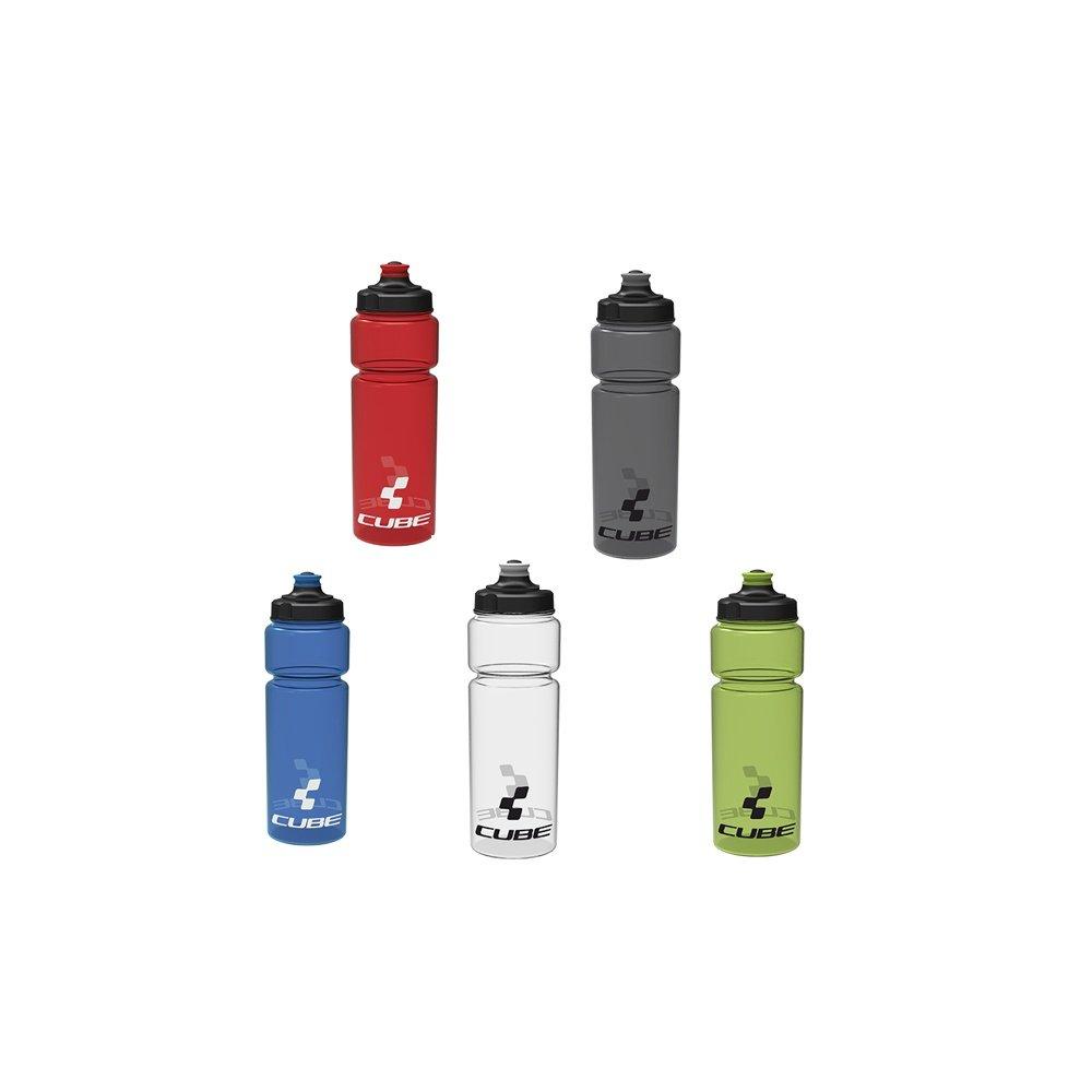 Cube Icon Trinkflasche 0,75 Liter grau, blau grün transparent rot