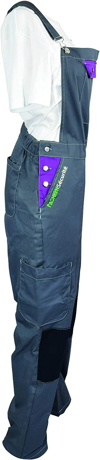Fashion Safety Working 660140/Peps Dungarees Size XS Grey//Lime