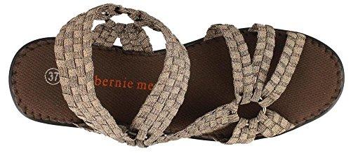Bernie Mev Womens Crystal Sandal Bronze