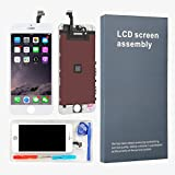 LEMANCA Replacement LCD Display Touch Screen Digitizer Frame Assembly Full Set with Free Tools and Glass Screen Protector For iphone 6 screen (4.7 inches) White