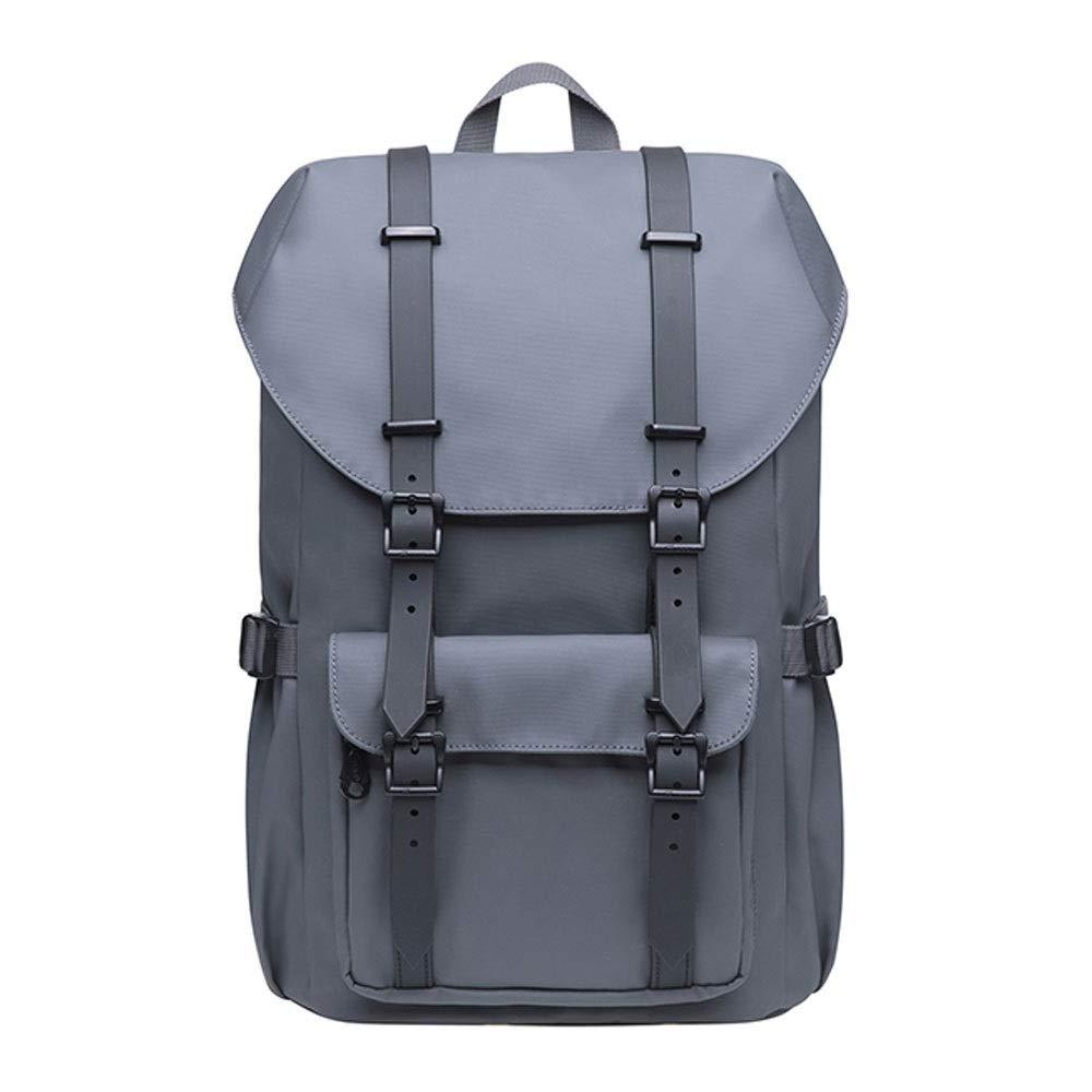 アウトドア大容量のラップトップバッグ、調節可能なショルダーストラップ、14インチ、ハイキングバックパック多機能バックパック(グレーブラック) (色 : グレイ ぐれい)  グレイ ぐれい B07RLM4TY8