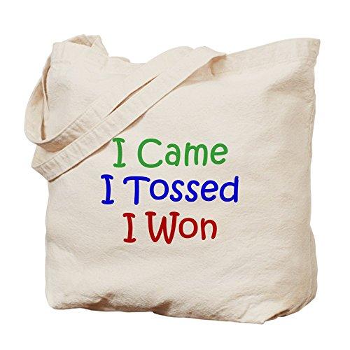 CafePress–I came I Tossed I won–Gamuza de bolsa de lona bolsa, bolsa de la compra