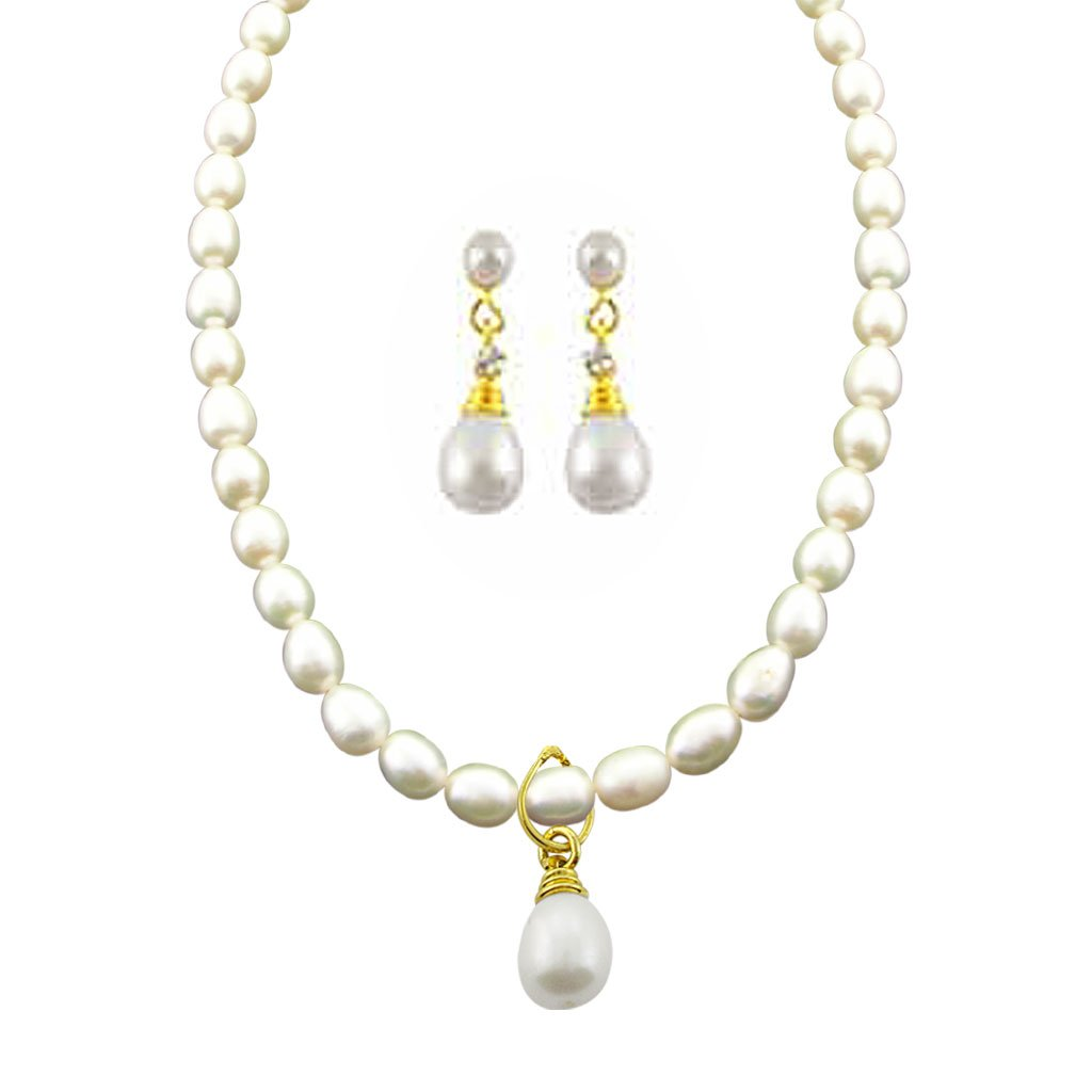 9d554954d0533 Sri Jagdamba Pearls Pearl Pendant Set for Women