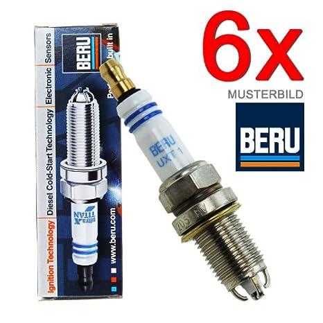Beru AG 6x Original BERU ULTRA X TITAN UXT1 B4 C4 CABRIO COUPE C124 A B - Bujía para motor de barco: Amazon.es: Coche y moto