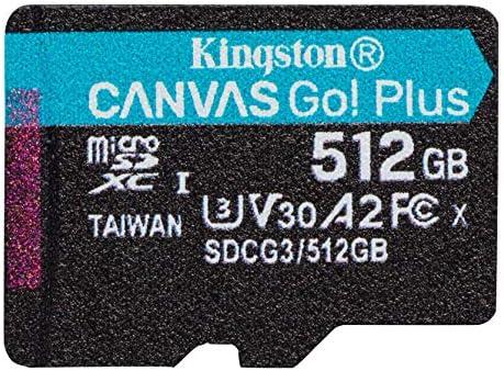 Kingston 512GB BLU Energy JR MicroSDXC Canvas Select Plus Card Verified by SanFlash. 100MBs Works with Kingston
