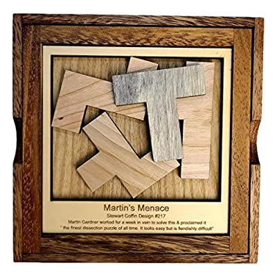 Martins Menace Puzzle – Stewart Coffin Design #217 Four Fit – Shockingly Difficult: Toys & Games