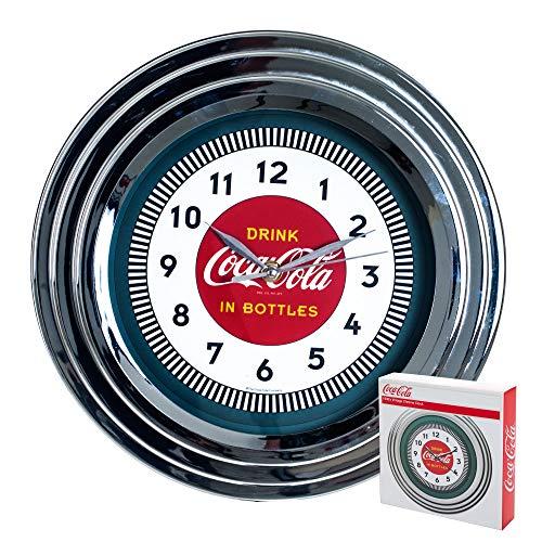"""Coca-Cola Chrome Clock, 12"""""""