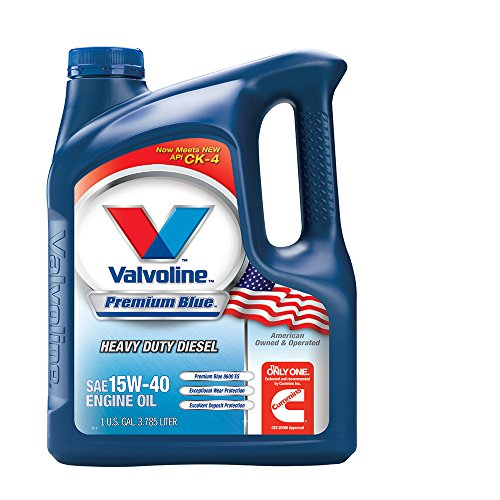 15w40 Motor Oil - Valvoline Premium Blue SAE 15W-40 Heavy Duty Motor Oil - 1 Gallon (Pack of 3); 773780
