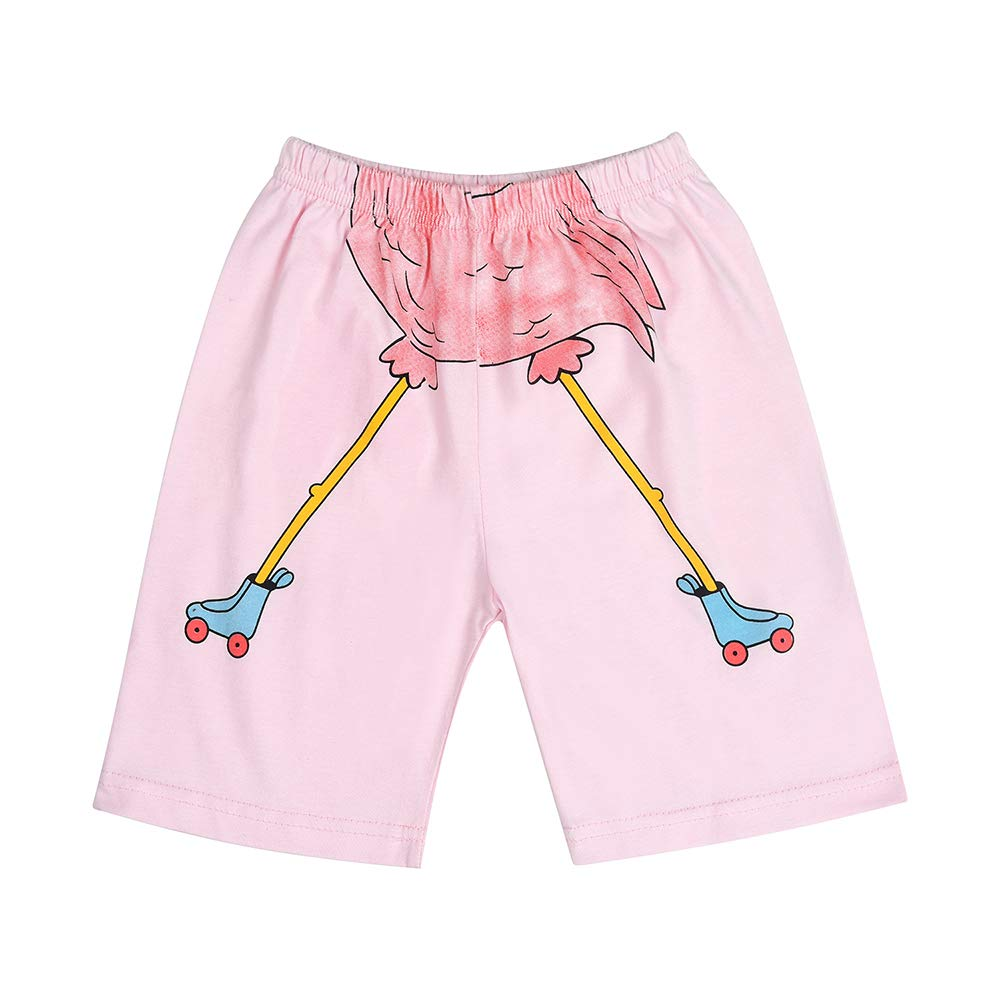 CM-Kid Little Girls Pajamas Short Sets 100/% Cotton Toddler Pjs Flamingos Sleepwear Clothes Size 2-8 Years