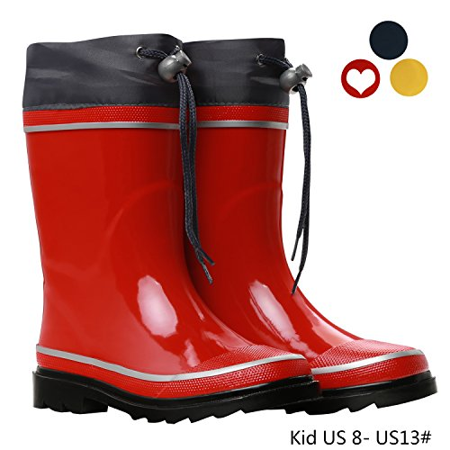 Kids Waterproof Rubber Rain Boots Children's Safety Garden Shoes by VVFamily
