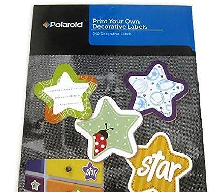 amazon com polaroid print your own decorative labels star 1 x1