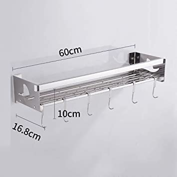 Amazoncom Fangfa Kitchen Shelf Stainless Steel Storage Rack Wall