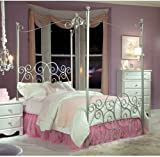 Standard Furniture Princess Canopy Bed In Silver Metal - Twin & Amazon.com: Hillsdale Furniture 11180BTWPR Emily Bed Set with ...