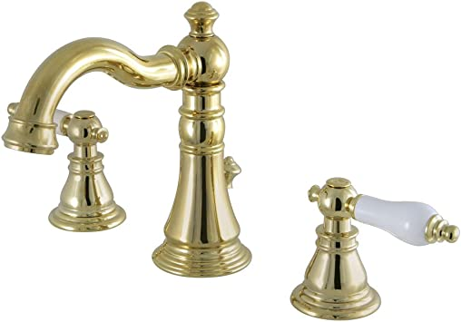 Matte Black Kingston Brass FSC1970APL American Patriot 8 Widespread Lavatory Faucet