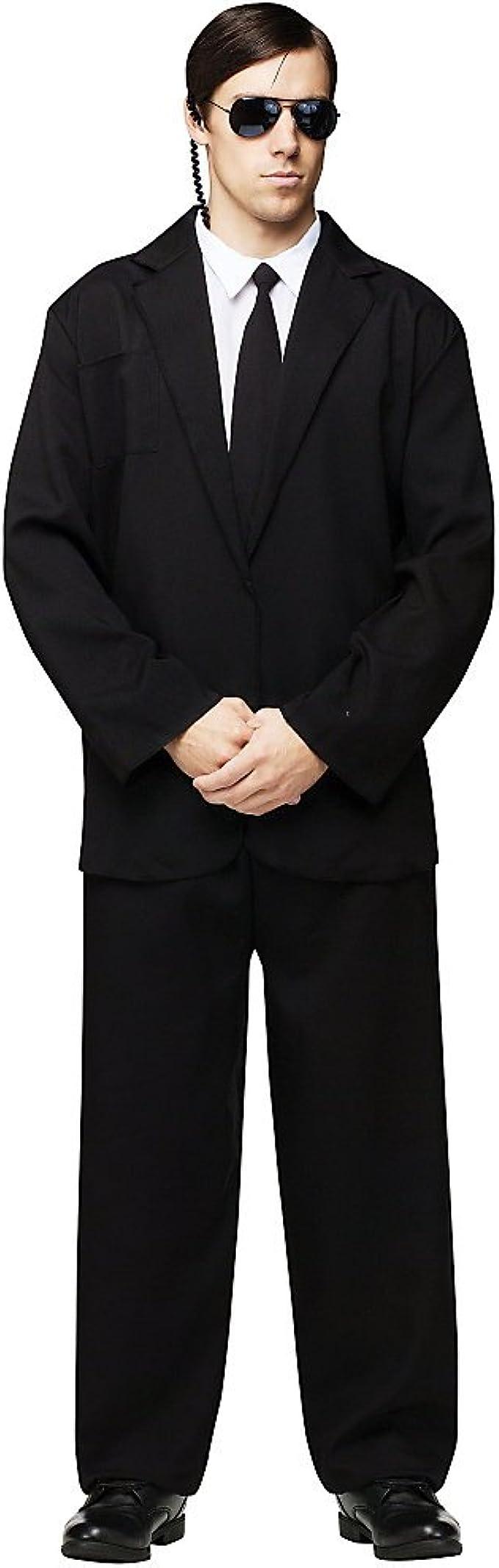 Amazon.com: FunWorld de los hombres traje negro completo ...