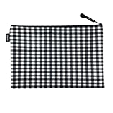 3 PCS Waterproof Document File Pocket A4 Paper Holder File Bags Black+White