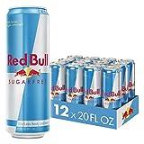 Red Bull Energy Drink Sugar Free 12 Pack of 20 Fl Oz, Sugarfree