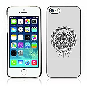 Carcasa Funda Case // V0000671 Eye Inside A Triangle // Apple Iphone 5 5S