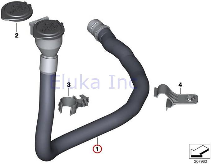 Washer Fluid Reservoir Filler Pipe For 2004-2005 BMW 545i F821SR