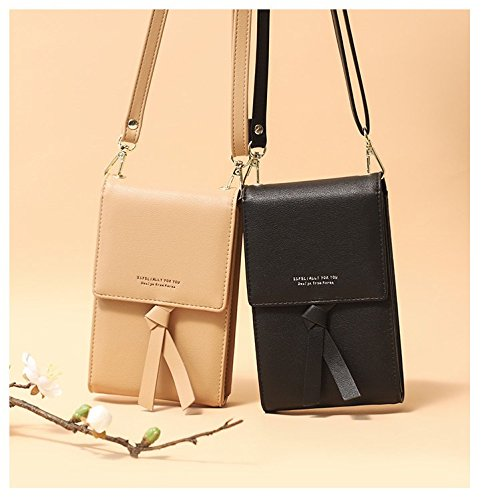Women For 5 apricot Credit PU With Girls Wallet Card Phone Leather Samsung 5 iPhone Under 811 Storage Purse Pouch Smartphone Bag Inch Crossbody Holder Cell 11cZxPy7qr