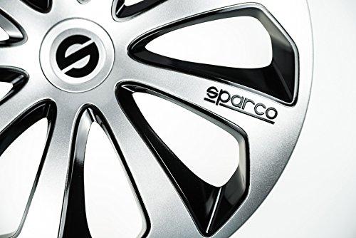 4 x Original Tapacubos SPARCO - Un Juego de Llanta 14 pulgadas 14 Plata de Negro: Amazon.es: Coche y moto