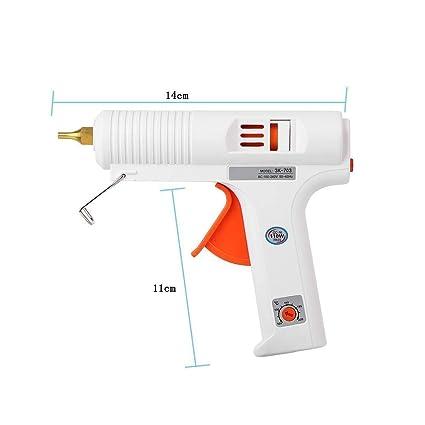 FTVOGUE Pistola para Pegamento Ajustable a Temperatura Constante Calentador Pistola Trigger Flexible Herramienta de reparación Artesanal