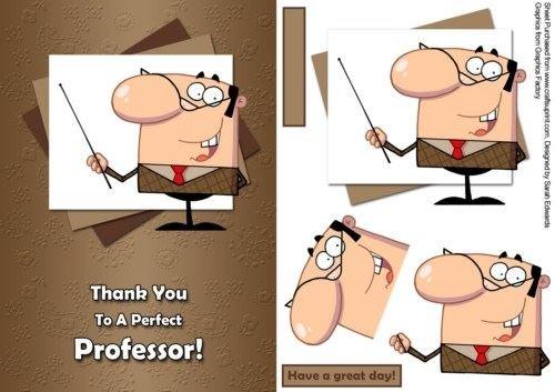 Thank You Professor professioni carta di Sarah Edwards