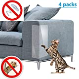 BOEHNER Self-adhesie Protect Pads Sticker Cat Scratching Post Furniture For Upholstery Leather Chairs Anti Scratching Corner Cover(4 Pack)