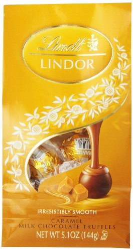 Lindt LINDOR Caramel Milk Chocolate Truffles ,5.1 Ounce by Lindor [Foods]