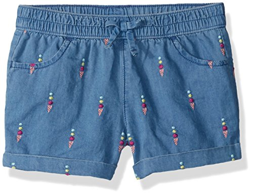 Girl 2t Gymboree - Gymboree Girls' Toddler Drawstring Cuffed Shorts, Chambray, 2T