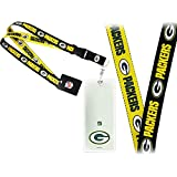 NFL Green Bay Packers 2-Tone Lanyard (+) Logo Credential Ticket Holder