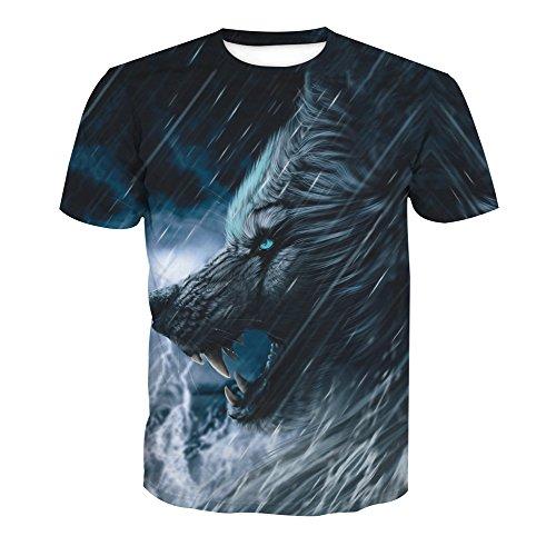 Manches Courtes Rond Homme Style Imprimé Animal Shirt 18 Acvip Col XqT4x