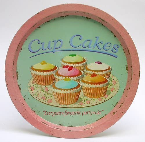 Retro Tin Cupcake Tray